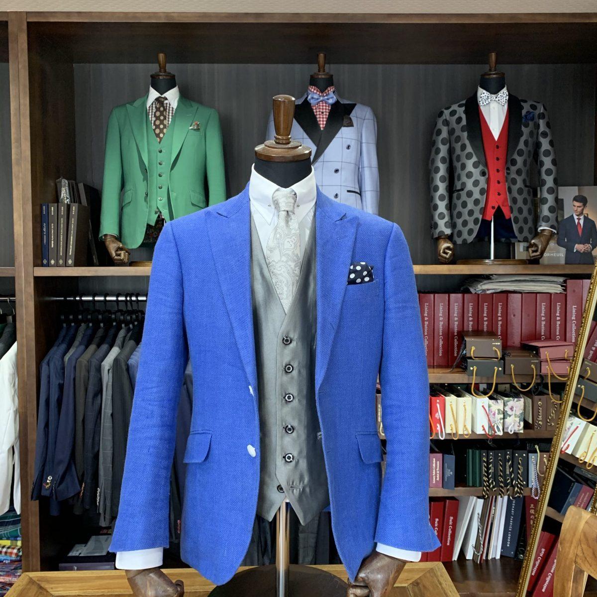 滋賀県長浜市M様のオーダースーツを仕上げさせていただきました!