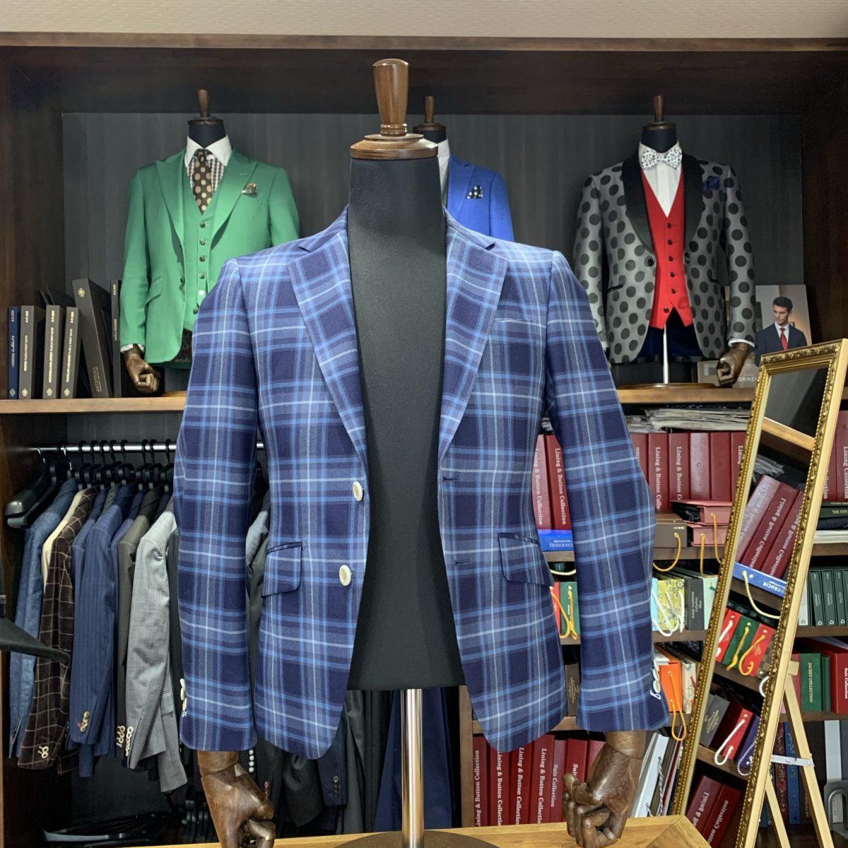 滋賀県甲賀市Y様のオーダースーツを仕上げさせていただきました!