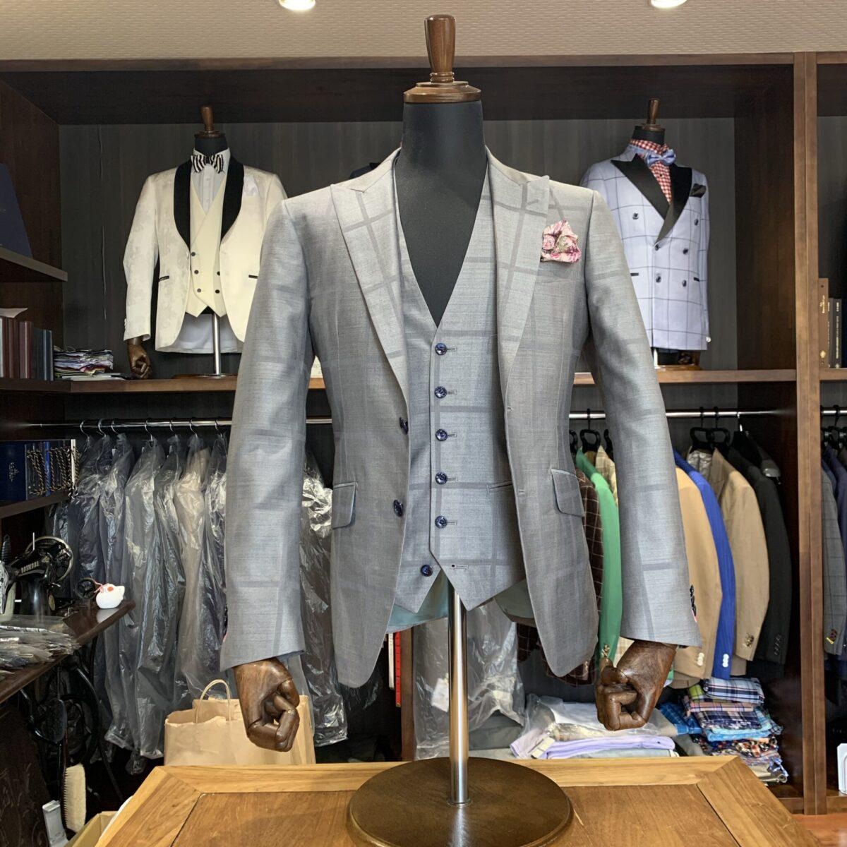 滋賀県大津市C様のオーダースーツを仕上げさせていただきました!