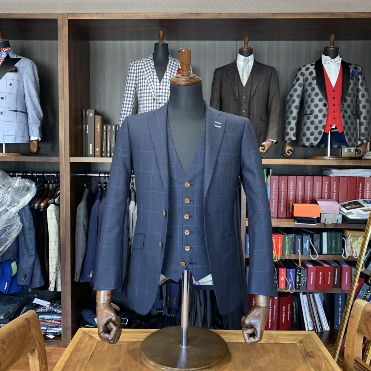 滋賀県彦根市K様のオーダースーツを仕上げさせていただきました!